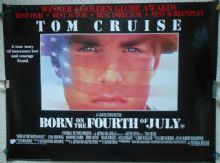Born on the Fourth of July, Original UK Quad Poster, Tom Cruise, '89